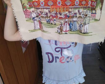 All of our yesterday's carousel completed cross stitch