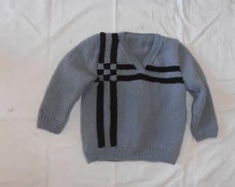 Boy grey Wool Sweater (2 years)