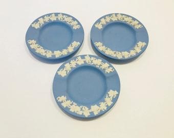 Wedgwood Jasperware Cigar trays/ plates set of 3 made in England