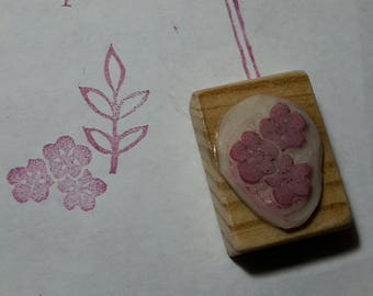 """""""forget-me-not"""" hand carved stamp"""