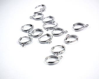 X 2 Stud Earrings 11.5 mm silver/gray rings (or a pair of earrings)