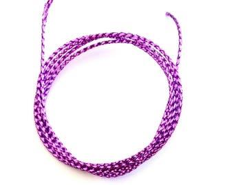 X 1 M cord 0.8 mm metallic effect.