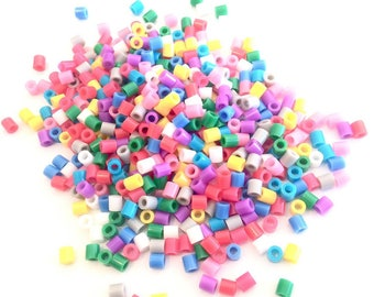 X 500 BEADS HAS IRON MIX COLOR 5MM