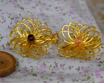 Hair flowers - different colors available - handmade