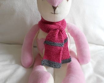 Pink soft scarf to cuddle with