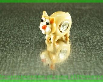 Cat FAN139 for bracelet necklace charms European glass bead