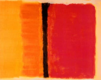 ORIGINAL design, durable and WASHABLE PLACEMAT - Mark Rothko, Untitled.