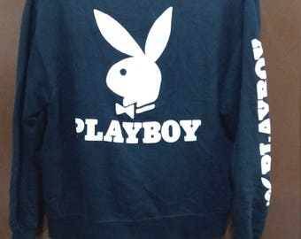 PLAYBOY Sweatshirt Big Logo Black Colour Large Size