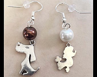 "Mismatched earrings ""dogs"""