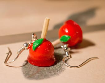 Love apples earrings polymer clay