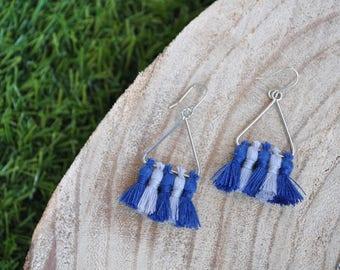 Tassels - Oslo triangle earrings