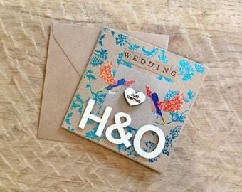 Personalised Foil Birds Wedding Card