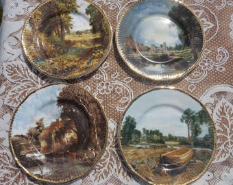 Fine Bone China Collector Plates ×4 By John Constable