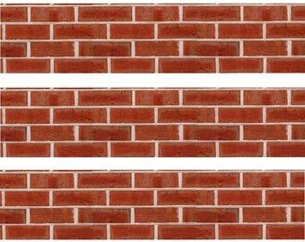Red Brick Cake topper strips