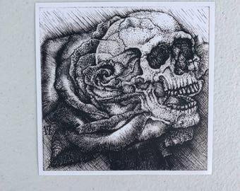 Skull Rose Print Small