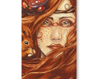 Bookmarks - autumn fairy - Delphine striker Illustration