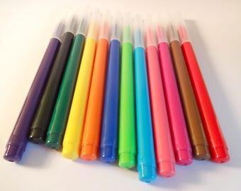 multicolored 12 felt - medium point - children's activities - drawing