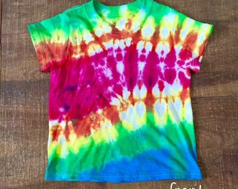 Rainbow Tye Dye T-shirt Youth Sizes XS-L