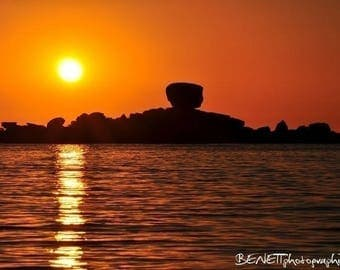 Photograph of a sunset (Brittany)