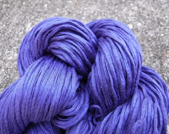 Gentian Violet Egyptian Cotton Yarn-- Rescued, Recycled, Reclaimed