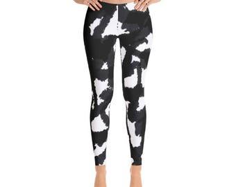 Women's Leggings | Black and white pattern Leggings // Gift For Her, Planner Gift, Mother's Day Gift