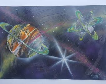 Abstract Galaxy Reality Acrylic Spraypaint