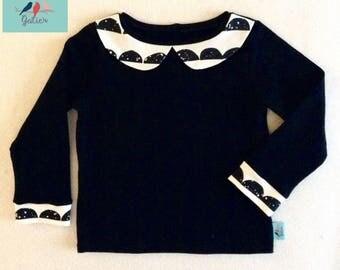 Child sweater Sweatshirt Black Peter Pan collar