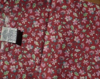 red floral patchwork or other cotton fabrics