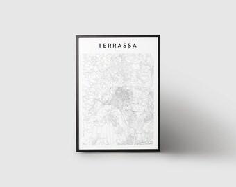 Terrassa Map Print