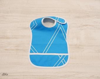 Collector - geometry blue bib