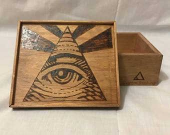 Illuminati All Seeing Eye Stash Box