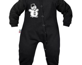 Baby pyjamas: pretty snowman