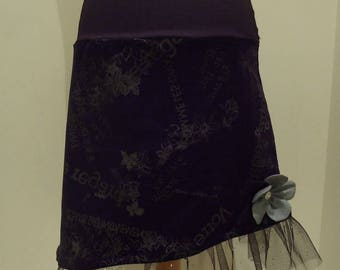 FIESTA OF VELVET AND VEIL 36/38 WOMEN ASYMMETRICAL SKIRT