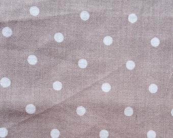 1 cut of cotton with beige dots, 50 X 50 cm