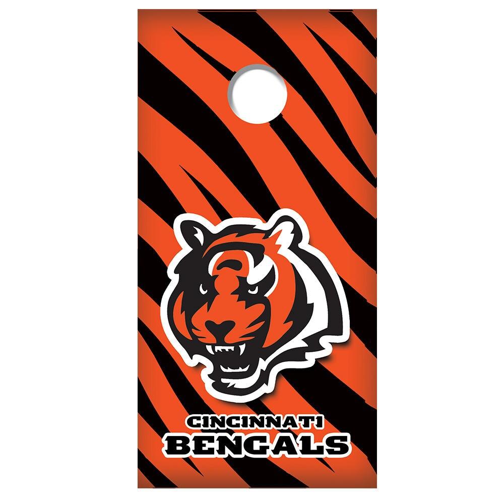 Cornhole Board Decal Cincinnati Bengals W Tiger Stripes