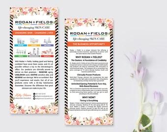Rodan and Fields Business Opportunity, RF Product Cards, Why Rodan + Fields Card, Business Opportunity Flyer RF03