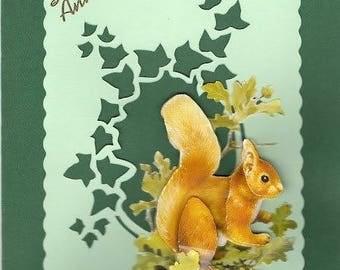 3D squirrel card