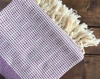 Ottoman Turkish Towel - Purple Diamond