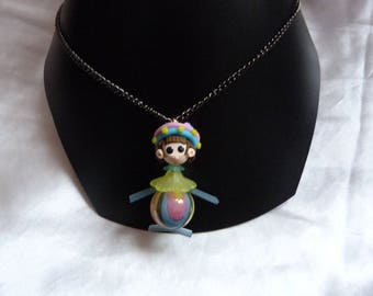 BABY DOLL MULTICOLOR PENDANT NECKLACE