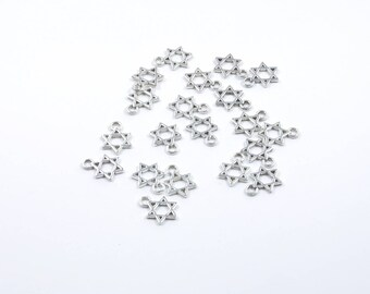 BR208 - Set of 20 charms in silver stars
