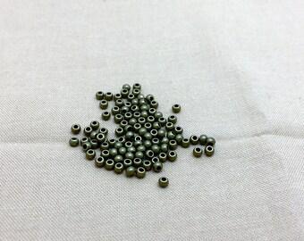 bronze 100 2.50 mm metal beads for jewellery designs