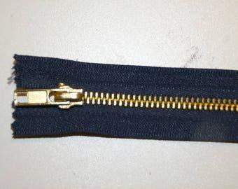 Navy Blue zipper iron not separable 20 cm