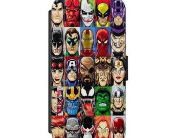 Nick Fury case Avengers Hell Boy Marvel Wallet phone Case Cover For IPhone & Samsung
