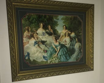 Beautiful Victorian Picture with Gold Frame