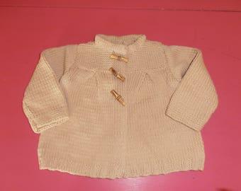vest jacket 18 months natural tone