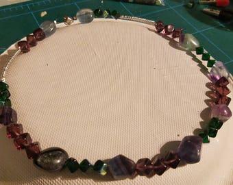 Rainbow Flourite Necklace
