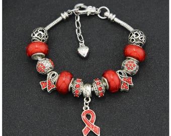 HIV/AIDS Awareness Charm Bracelet