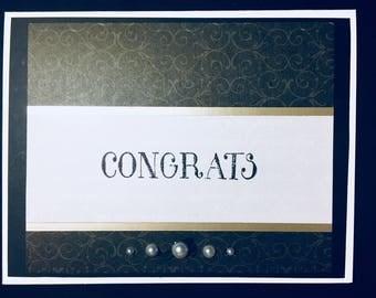 Congrats Card - Blank inside - Matching Envelope