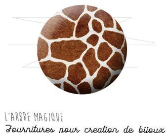 Cabochon 25 mm giraffe animal fantasy animal wild ref 1573