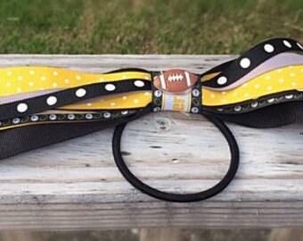 Steelers hair bow, Team hair bow, Steelers